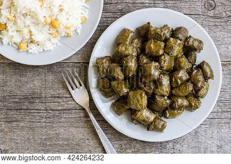 Stuffed Meat, Grape Boiled Leaves, Traditional Turkish Food, Sarma, Dolma