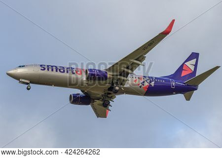 Saint Petersburg, Russia - October 28, 2020: Airplane Boeing 737-800 (vq-bby) Of Smartavia Airline C