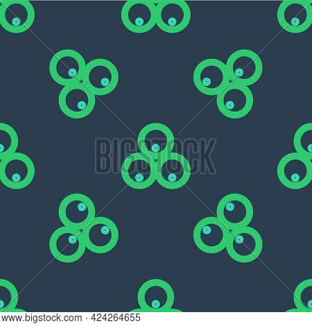 Line Wooden Barrels Icon Isolated Seamless Pattern On Blue Background. Alcohol Barrel, Drink Contain