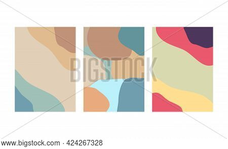 Set Of Abstract Backgrounds In Minimal Trendy Style Templates For Social Media, Free Space Card, Bro