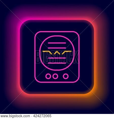 Glowing Neon Line Attitude Indicator Is An Instrument Used In An Aircraft To Inform The Pilot Of The