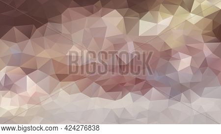 Vector Abstract Irregular Polygon Background - Triangle Low Poly Pattern - Color Brown Mauve Taupe P