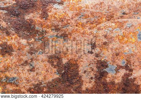 Surface Of Rusty Old Metal, Corrosion And Rust