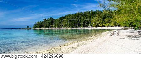 A Scenic Tropical Beach In Moorea, French Polynesia