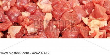 Clean Very Fresh Red Raw Meat Beef, Raw Red Meat Texture