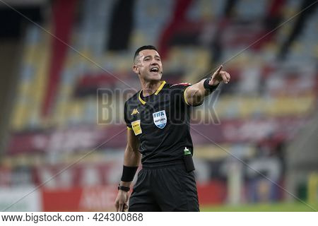 Rio, Brazil - June 19, 2021: Braulio Da Silva Machado Referee In Match Between Flamengo Vs Bragantin