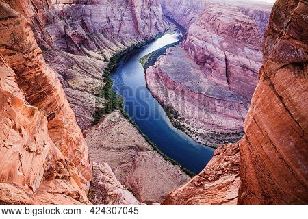 Panoramic View Of The Grand Canyon. Glen Canyon. Canyon Travel Lifestyle Adventure.
