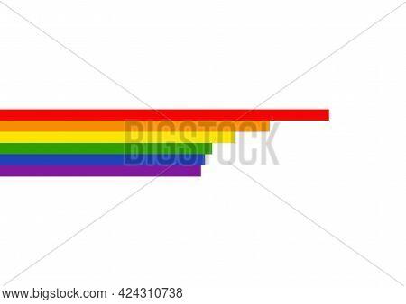 Lgbtq Rainbow Stripe. Vector Illustration Graphic Design