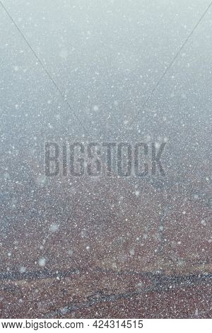 White glittery winter snowy background