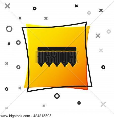 Black Sponge With Bubbles Icon Isolated On White Background. Wisp Of Bast For Washing Dishes. Cleani