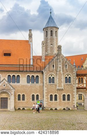 Braunschweig, Germany - July 25, 2020: Front Of The Dankwarderode Castle In Braunschweig, Germany