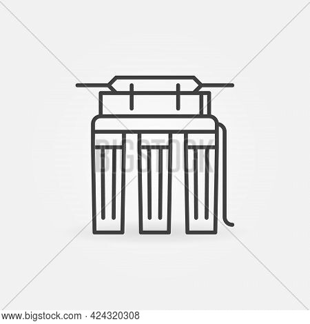 Reverse Osmosis For Water Vector Thin Line Concept Icon