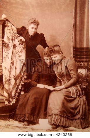 Photograph, Antique, Vintage, Young  Women