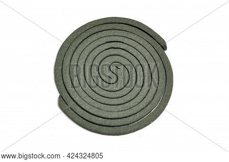 Double Green Mosquito Coil White Background Studio Shoot