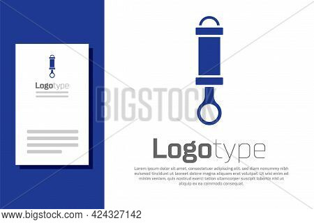 Blue Shock Absorber Icon Isolated On White Background. Logo Design Template Element. Vector