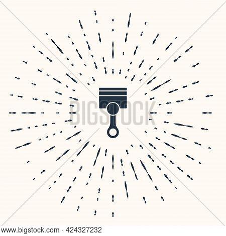 Grey Engine Piston Icon Isolated On Beige Background. Car Engine Piston Sign. Abstract Circle Random