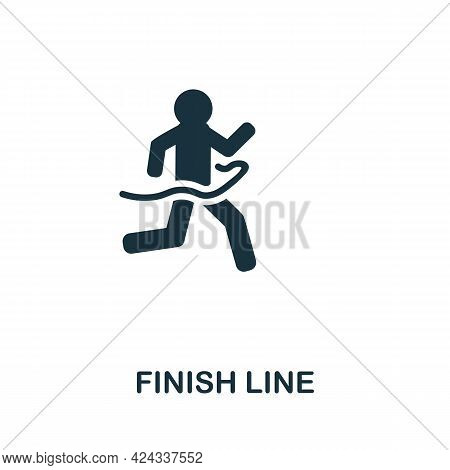 Finish Line Icon. Monochrome Simple Element From Personal Growth Collection. Creative Finish Line Ic