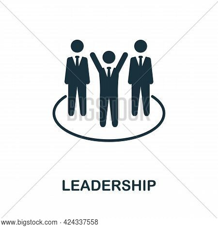 Leadership Icon. Monochrome Simple Element From Personal Growth Collection. Creative Leadership Icon
