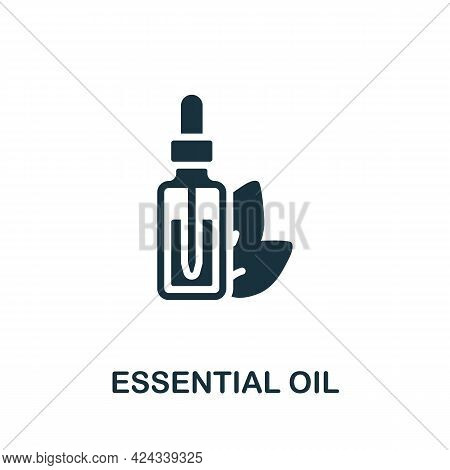 Essential Oil Icon. Monochrome Simple Element From Sauna Collection. Creative Essential Oil Icon For