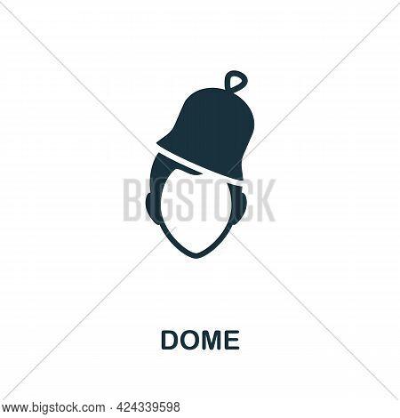 Dome Icon. Monochrome Simple Element From Sauna Collection. Creative Dome Icon For Web Design, Templ