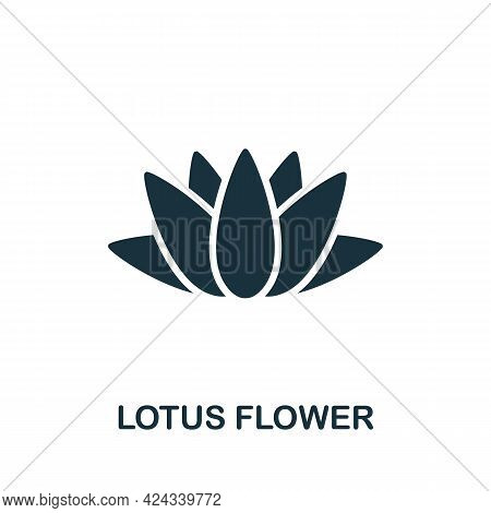 Lotus Flower Icon. Monochrome Simple Element From Sauna Collection. Creative Lotus Flower Icon For W