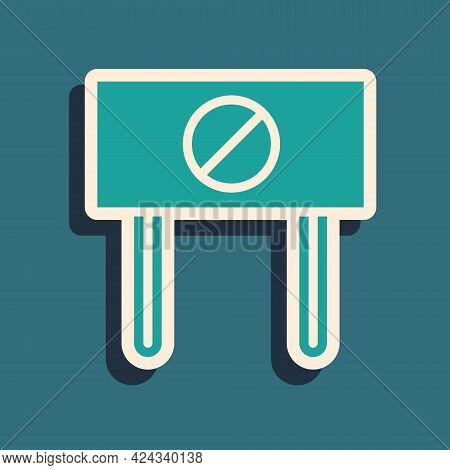 Green Protest Icon Isolated On Green Background. Meeting, Protester, Picket, Speech, Banner, Protest