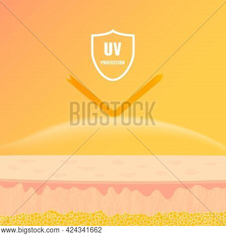 Skin Protection From Uv Sun Rays Concept