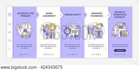 Workplace Discrimination Onboarding Vector Template. Responsive Mobile Website With Icons. Web Page