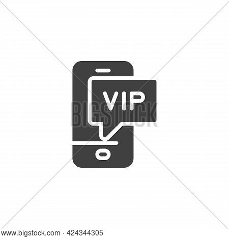 Vip Phone Message Vector Icon. Filled Flat Sign For Mobile Concept And Web Design. Smartphone Vip Ca