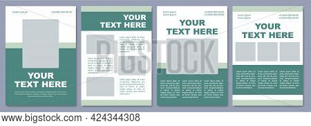 Marketing Campaign Brochure Template. Products Info. Flyer, Booklet, Leaflet Print, Cover Design Wit