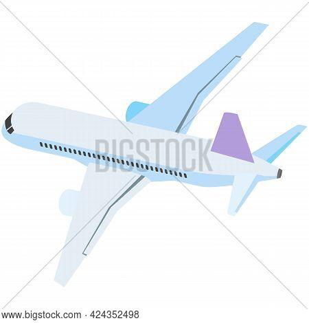 Plane Vector, Airplane Travel Icon, Air Jet Illustration