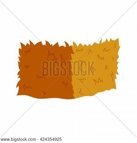 Haystack Vector On White Background. Wheat Straw.