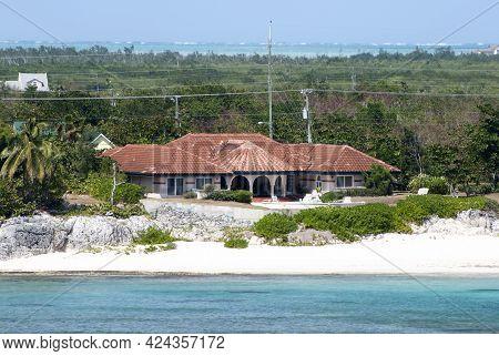 The Residential House Built On A Beach On Grand Cayman Island (cayman Islands).