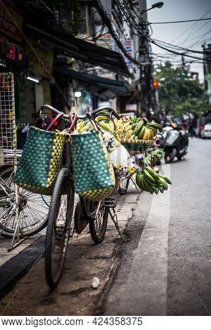 Street Market In Hanoi Vietnam