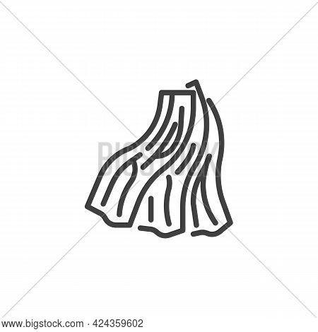 Bacon Slices Line Icon. Linear Style Sign For Mobile Concept And Web Design. Smoked Bacon Strips Out