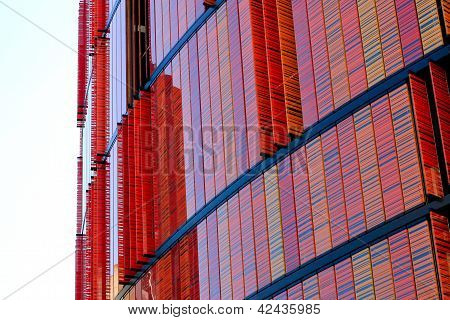 Contemporary Office Building With Colored Windows