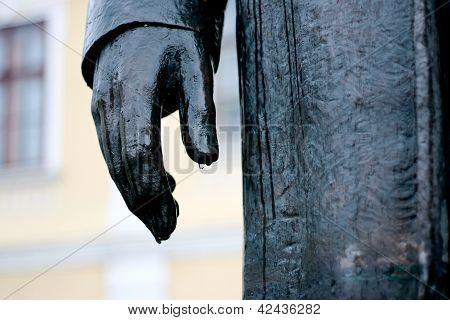 Wet Statue Hand
