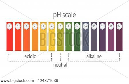 Ph Value Scale Chart For Acid And Alkaline Solutions, Acid-base Balance Infographic
