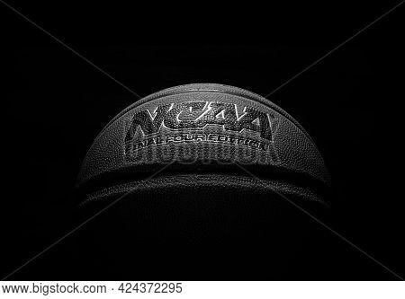 Wilmington,nc - Usa - 05-07-2021: An Ncaa Final Four Edition Basketball On Black Background