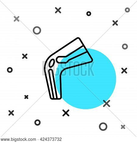 Black Line Bone Pain Icon Isolated On White Background. Orthopedic Medical. Disease Of The Joints An