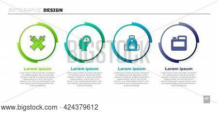 Set Paint Spray Can, Spray Nozzle Cap, School Backpack And Paint, Gouache, Jar, Dye. Business Infogr