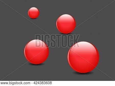 3d Ball Red Glossy Sphere Of Spheres Vector Illustration For Your Graphic Design