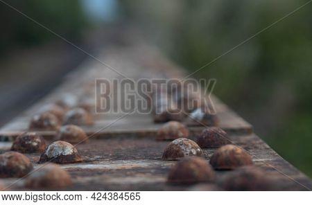 Railroad Bridge Metal Frame Rivets