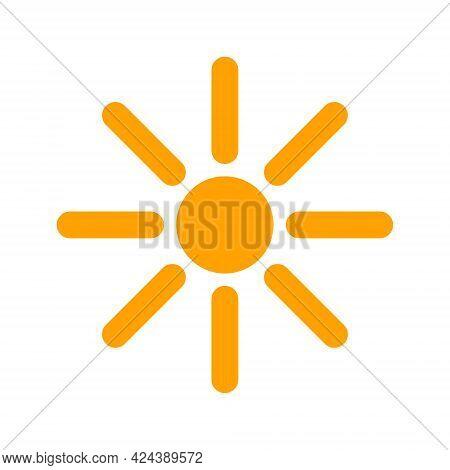 Sunshine Icon With Flat Style. Isolated Vector Sunshine Icon Image, Simple Style.