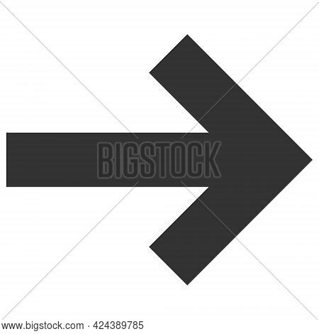 Right Direction Arrow Icon With Flat Style. Isolated Vector Right Direction Arrow Icon Image, Simple