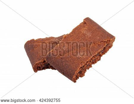 Chocolate Cacao Cookies Isolated On The White