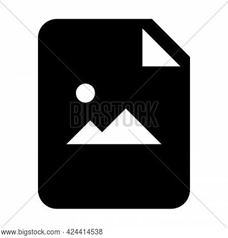 Image Document Icon Vector With Picture File For Business Application Data And Finance In A Glyph Pi