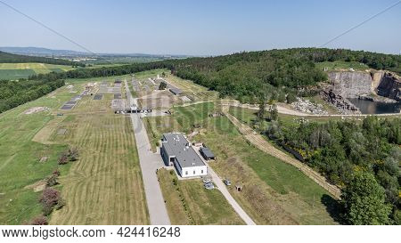 Rogoznica, Poland - June 3, 2021: Aerial View Of Gross-rosen Concentration Camp Built And Operated B