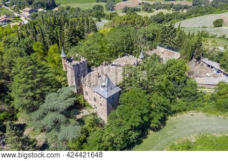 Perafita Castle Of Romanesque Style Is Documented In The Thirteenth Century, In The Osona Region Of