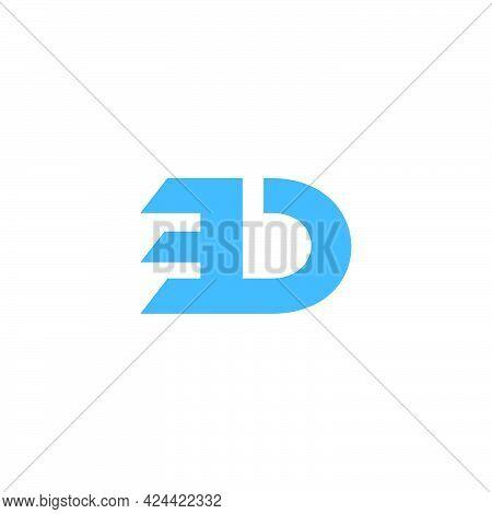 Letter Bd Simple Geometric Logo Vector Unique